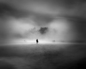 Man in the fog...  By reddog54 @DevientART